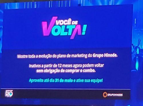 Slide Promoção você de Volta Hinode 4.0