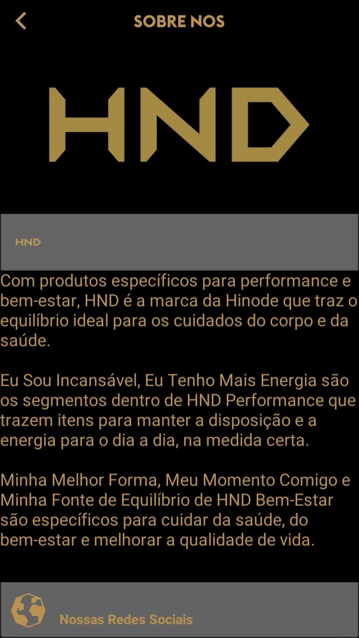 DEFINIÇÃO DE CADA LINHA HND